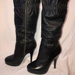 Michael Kors Women's 7.0 M Black Leather Knee High